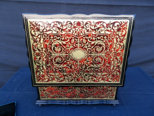 stamped TAHAN  Jewelry Box in Boulle marquetry Napoleon III period 19th -