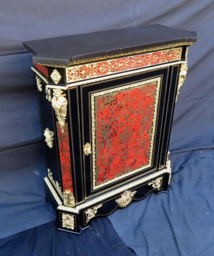 Furniture  -  Cabinet in Boulle marquetry 19th Napoléon III Napoleon III period - Perfec