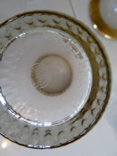 Set of fruit juice in crystal Saint Louis - Thistle gold - Art nouveau