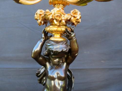 Pair of Candelabra Brown Bronze in Napoléon III period - Napoléon III