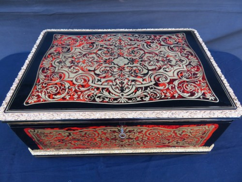 Objects of Vertu  - Cashmere Box in Boulle marquetry Napoleon III by Vervelle