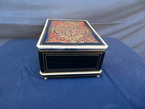 19th century - Cashmere Box in Boulle marquetry Napoleon III by Vervelle