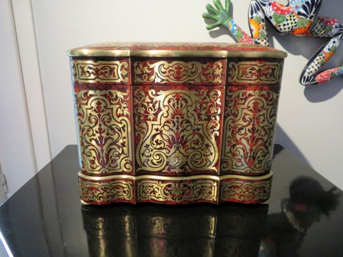 Napoléon III - Tantalus Box in Boulle marquetry - Bohemia crystal Napoleon III period 19th