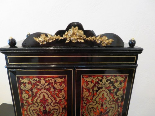 Decorative Objects  - Jewelry Wardrobe stamped AUDIGE Boulle marquetry Napoleon III period 19th