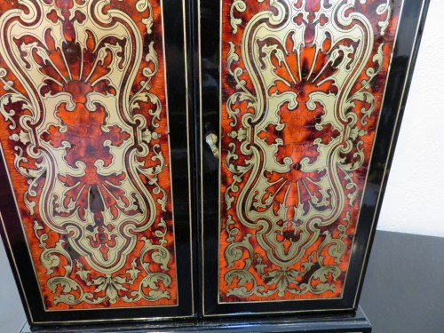 Antiquités - Jewelry Wardrobe stamped AUDIGE Boulle marquetry Napoleon III period 19th