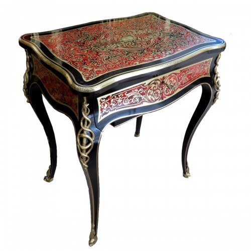 Little Table in Boulle marquetry 19th Napoleon III period