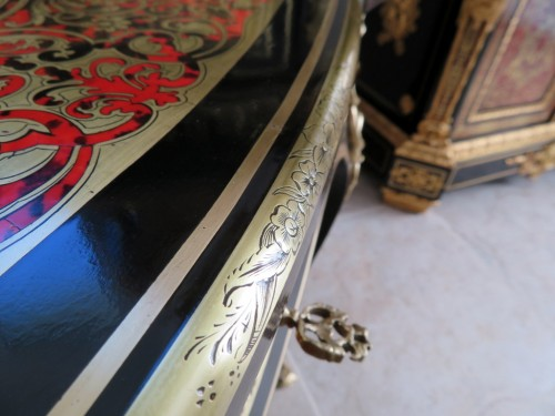 Little Table in Boulle marquetry 19th Napoleon III period -