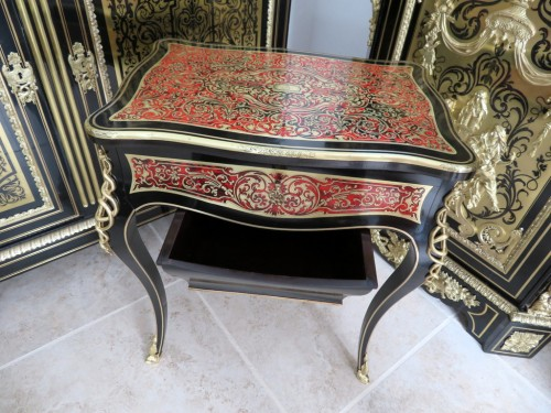 Napoléon III - Little Table in Boulle marquetry 19th Napoleon III period