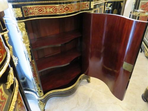 Cabinet 1 door in Boulle marquetry 19th Napoléon III - Napoléon III