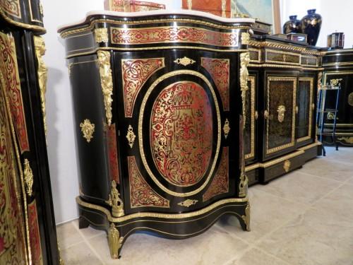 Napoléon III - Cabinet 1 door in Boulle marquetry 19th Napoléon III