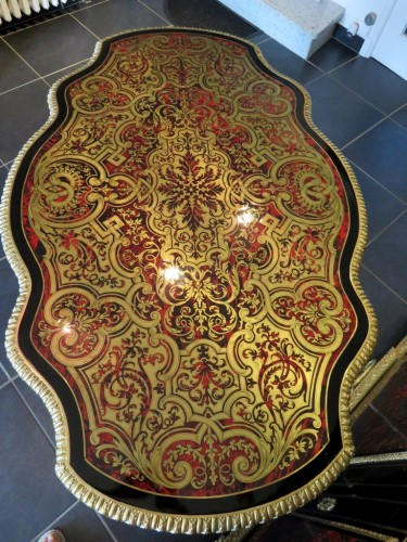 Napoléon III - Table in marquetry Boulle 19th Napoléon III period - Perfect condition