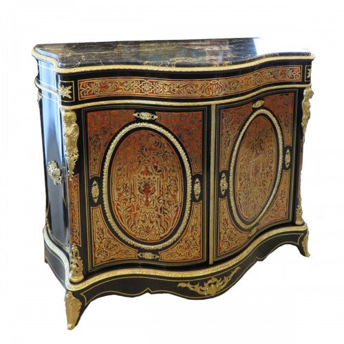 Cabinet 2 doors in Boulle marquetry 19th Napoléon III