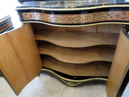 Furniture  - Cabinet 2 doors in Boulle marquetry 19th Napoléon III