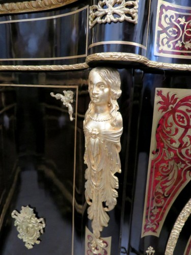 Classic Cabinet in Boulle marquetry 19th Napoléon III - Furniture Style Napoléon III