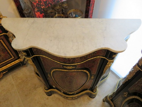19th century - Classic Cabinet in Boulle marquetry 19th Napoléon III