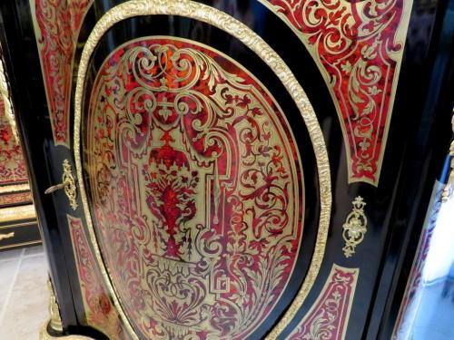 Napoléon III - Classic Cabinet in Boulle marquetry 19th Napoléon III