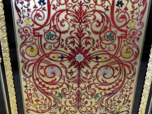 PRETOT Cabinet multi colors in Boulle marquetry 19th Napoléon III -
