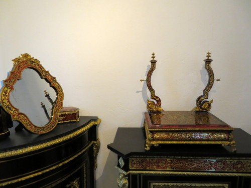 Napoleon III Barber in Boulle marquetry -
