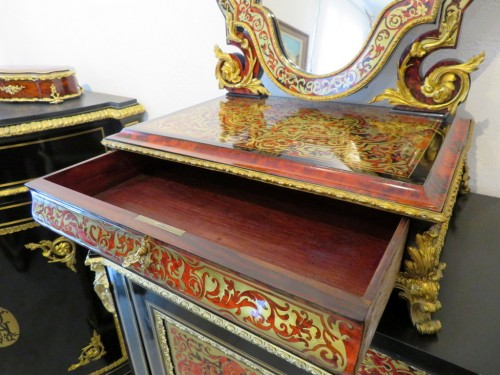 19th century - Napoleon III Barber in Boulle marquetry