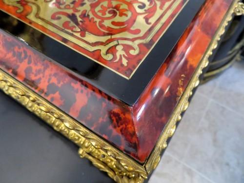 Antiquités - Napoleon III Barber in Boulle marquetry