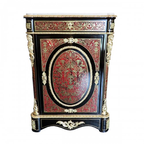 Strongbox Cabinet in Boulle marquetry 19th Napoléon III