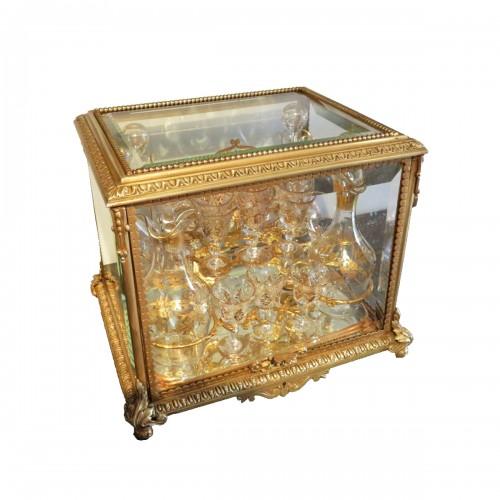 Golden crystal Tantalus Box Bronze Napoleon III period 19th