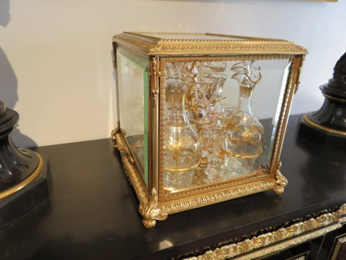 Decorative Objects  - Golden crystal Tantalus Box Bronze Napoleon III period 19th