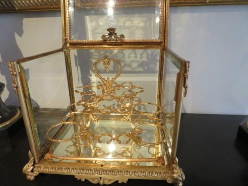 19th century - Golden crystal Tantalus Box Bronze Napoleon III period 19th