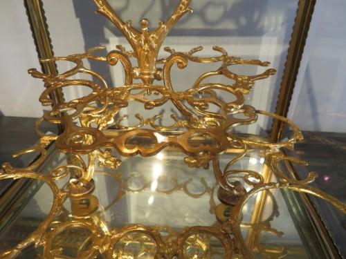 Golden crystal Tantalus Box Bronze Napoleon III period 19th - Napoléon III