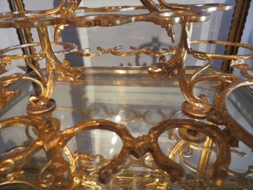 Antiquités - Golden crystal Tantalus Box Bronze Napoleon III period 19th