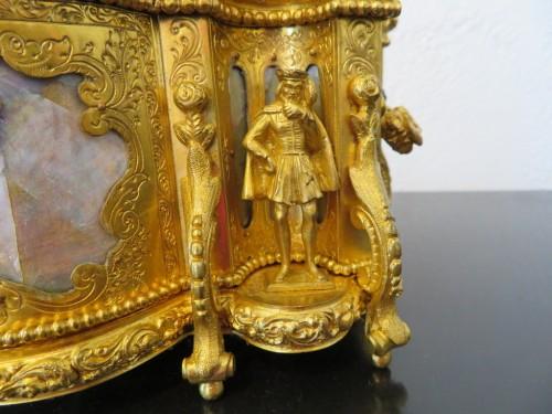 Jewelry Box bronze and Burgau 19th century Napoleon III period  - Objects of Vertu Style Napoléon III