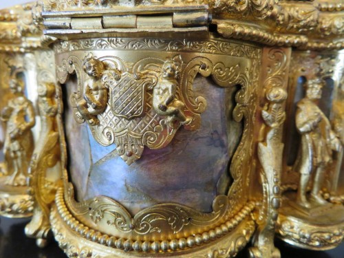 Jewelry Box bronze and Burgau 19th century Napoleon III period  -