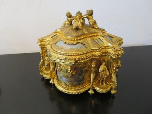 Napoléon III - Jewelry Box bronze and Burgau 19th century Napoleon III period