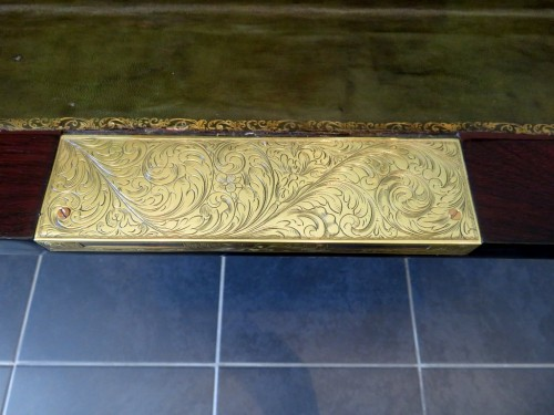 Furniture  -  Drawers of Desk in Boulle marquetry 19th period Napoléon III