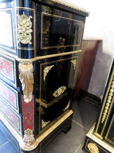 19th century -  Drawers of Desk in Boulle marquetry 19th period Napoléon III