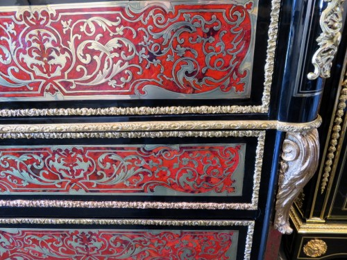 Antiquités -  Drawers of Desk in Boulle marquetry 19th period Napoléon III
