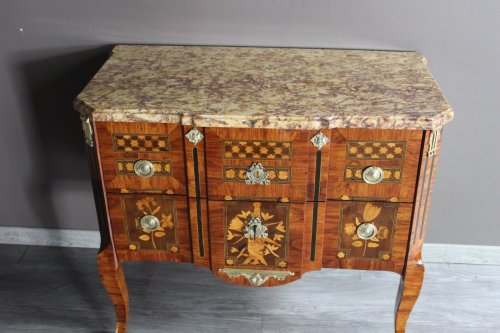 Mobilier Commode - Commode Transition en marqueterie
