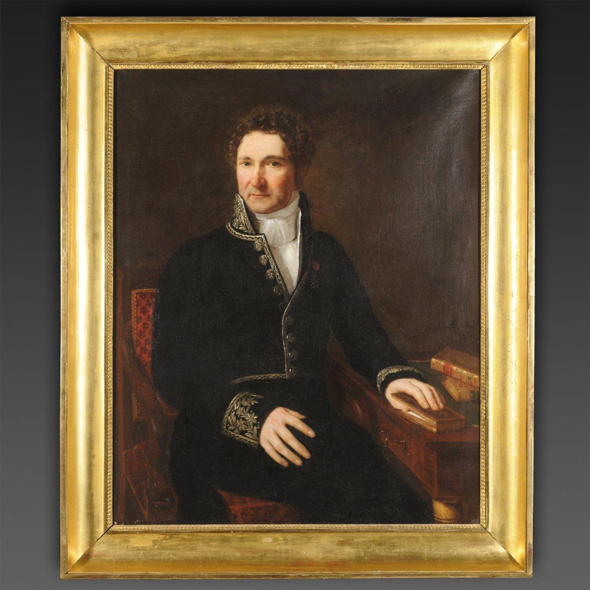 Portrait Of Jean Baptiste De Martignac Prime Minister Of