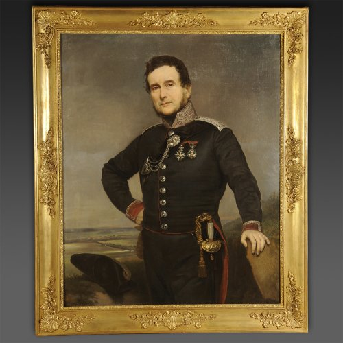 Portrait d'officier médecin de la Garde nationale - Pierre-Adolphe Badin (1805-1877)