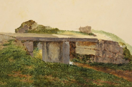 George Augustus Wallis (1761-1847) Sketch of bridge -