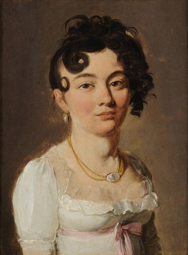 Louis-Léopold BOILLY (1761-1845) - Portrait of young women - Paintings & Drawings Style Empire