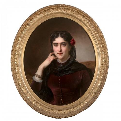 Hermann Winterhalter (1801-1891) - Portrait of Mathilde Leclerc de Juigné