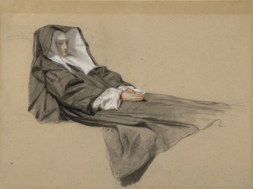 Isidore Pils (1815-1875) - The death of a Charity sister