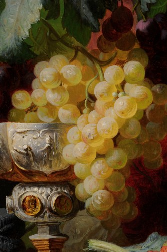 Jean-Baptiste Robie (1821-1910) - Still life of fruits with a chalice -