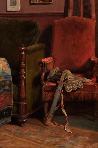 John O'Brien Inman (1828-1896) - The artist's studio in Paris -
