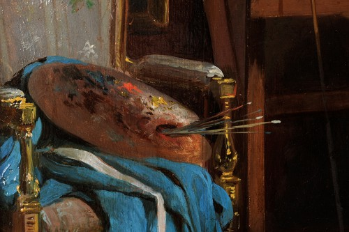 19th century - John O'Brien Inman (1828-1896) - The artist's studio in Paris