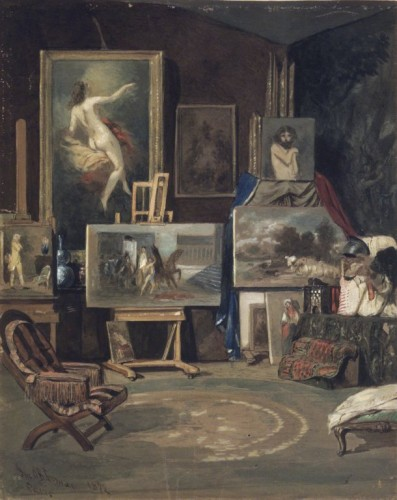 Antiquités - John O'Brien Inman (1828-1896) - The artist's studio in Paris