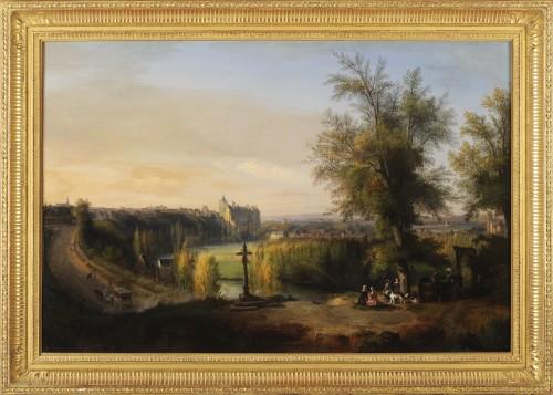 François-Edme Ricois (1795-1881) - View of Châteaudun in Eure-et-Loir