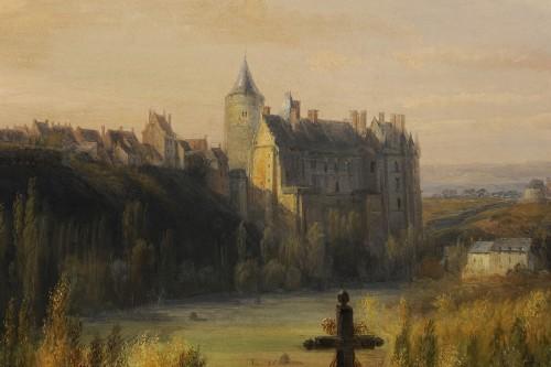 François-Edme Ricois (1795-1881) - View of Châteaudun in Eure-et-Loir -