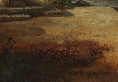 François-Edme Ricois (1795-1881) - View of Châteaudun in Eure-et-Loir - Napoléon III